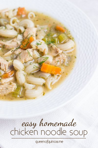 Easy Homemade Chicken Noodle Soup - a quick, gluten-free meal the whole family will adore!
