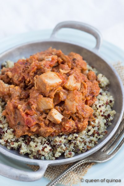 Chicken & Sausage Cassoulet with Rainbow Quinoa - a #glutenfree comfort food that's perfect for winter