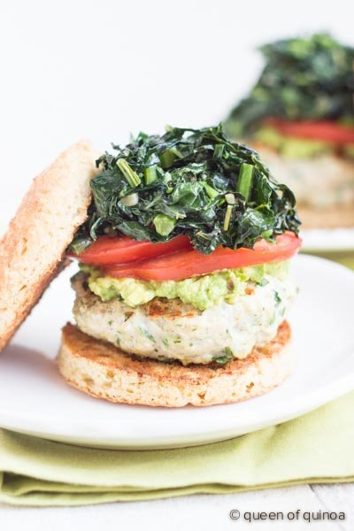 Cilantro-Quinoa Turkey Burgers via @alyssarimmer | #glutenfree #healthy | recipe on simplyquinoa.com