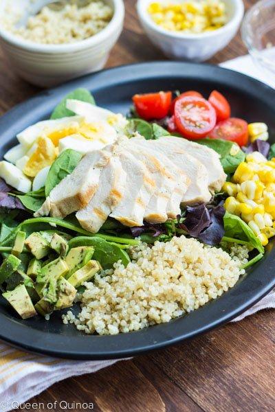 A simple Cobb Salad made with Quinoa via @alyssarimmer -- #glutenfree