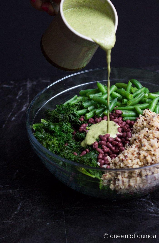 Creamy Kale Quinoa Salad