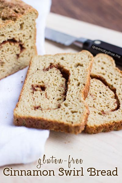 Gluten-Free Cinnamon Swirl Bread | recipes on simplyquinoa.com | #glutenfree