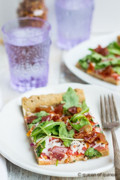 Gluten-Free Multigrain Pizza via @alyssarimmer | #glutenfree #multigrain #starchfree