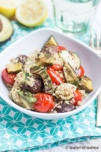 Grilled Vegetable Quinoa Salad | recipe on simplyquinoa.com | #glutenfree #vegan