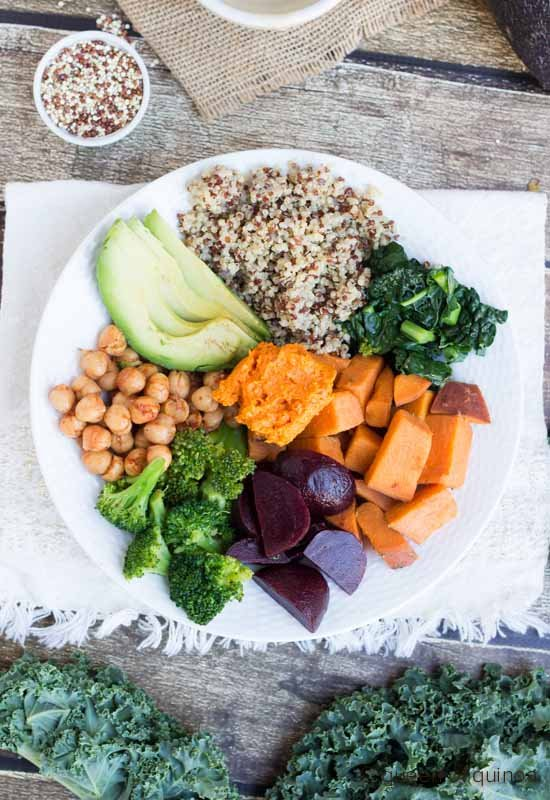 Nourishing Quinoa Bowl and some thoughts on yo-yo dieting and clean eating!