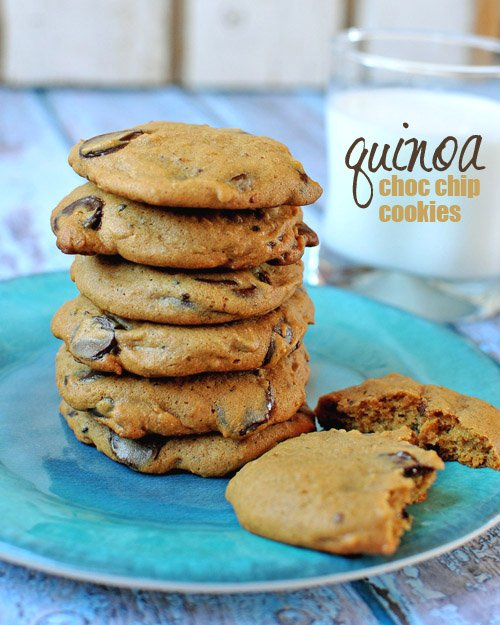 #GlutenFree Quinoa Chocolate Chip Cookies --> click through for recipe: www.simplyquinoa.com
