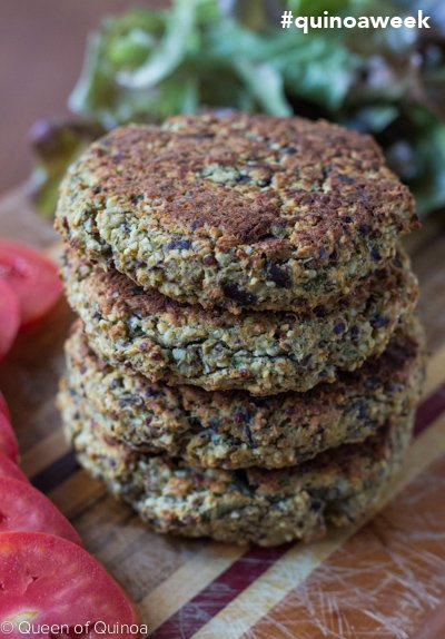Quinoa-Eggplant Burgers for Bob's Red Mill #quinoaweek! Click through for the full recipe --> www.simplyquinoa.com