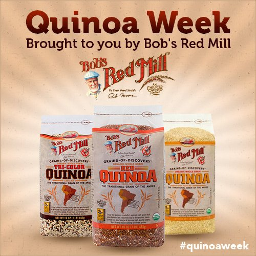 Quinoa Week brought to you by Bob's Red Mill. Follow along with hashtag #quinoaweek
