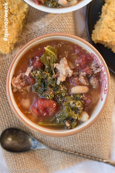 Sausage-Quinoa Stew - celebrating #quinoa week with Bob's Red Mill