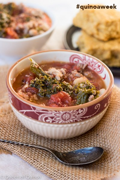 Sausage-Quinoa Stew - celebrating Quinoa Week with Bob's Red Mill. Follow along with #quinoaweek