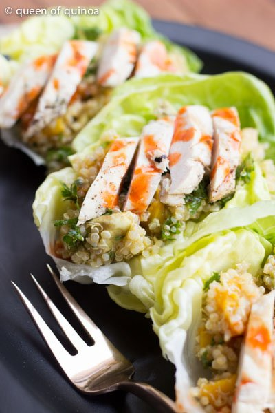 Tropical Quinoa Lettuce Wraps