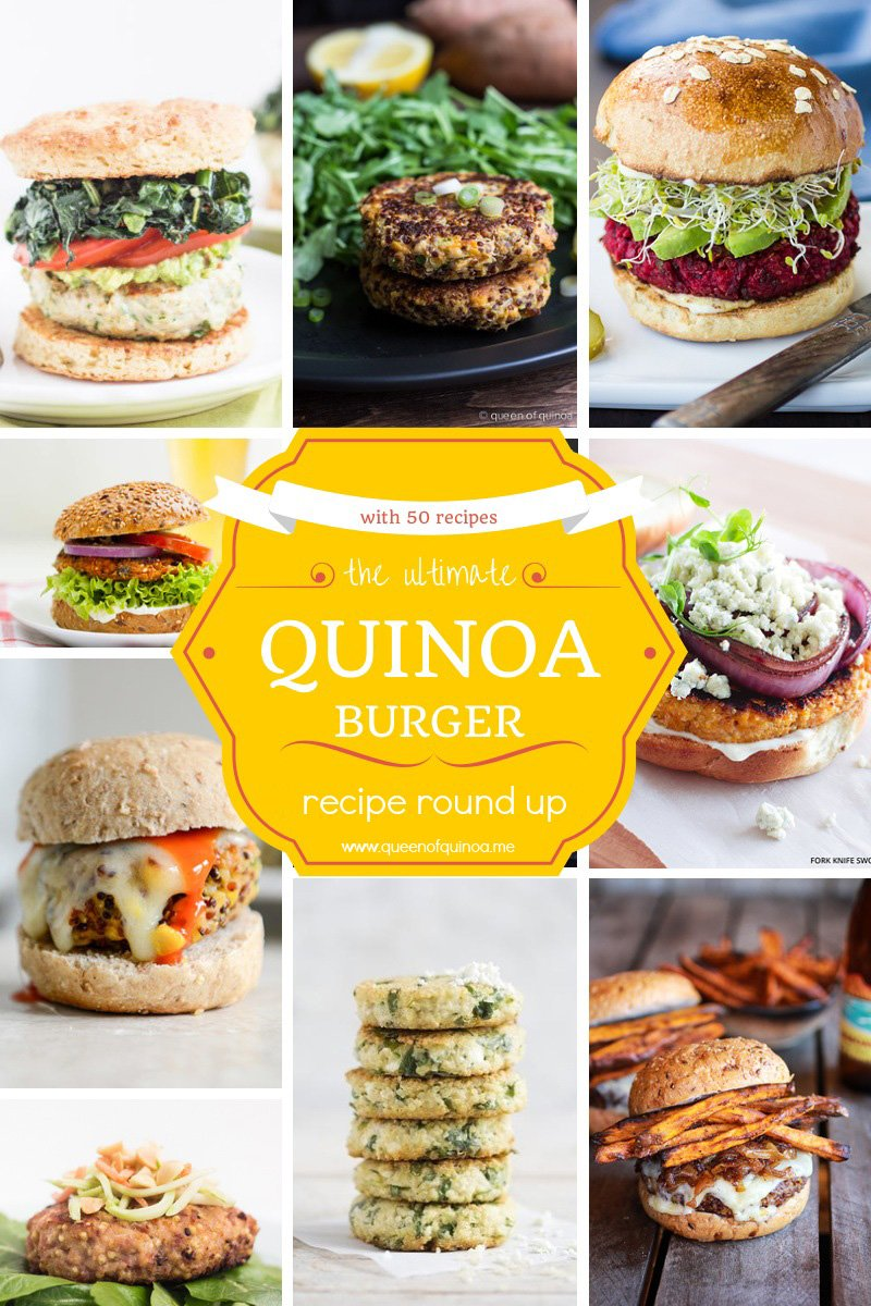 The Ultimate Quinoa Burger Round Up featuring 50 recipes! See more at www.simplyquinoa.com