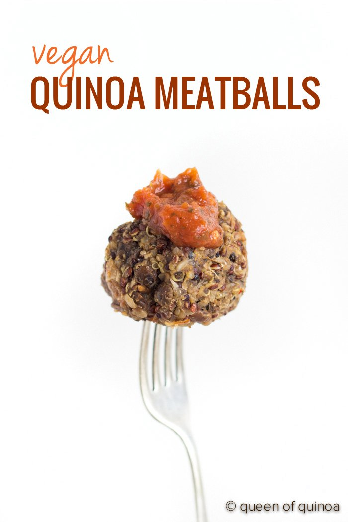 Vegan Quinoa Meatballs using mushrooms, lentils and quinoa