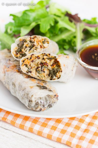 Vegetable Quinoa Spring Rolls from Queen of Quinoa