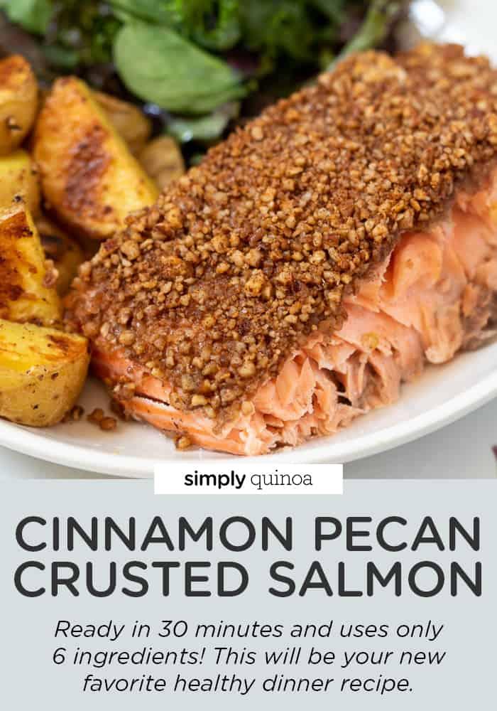 Cinnamon Pecan Crusted Salmon
