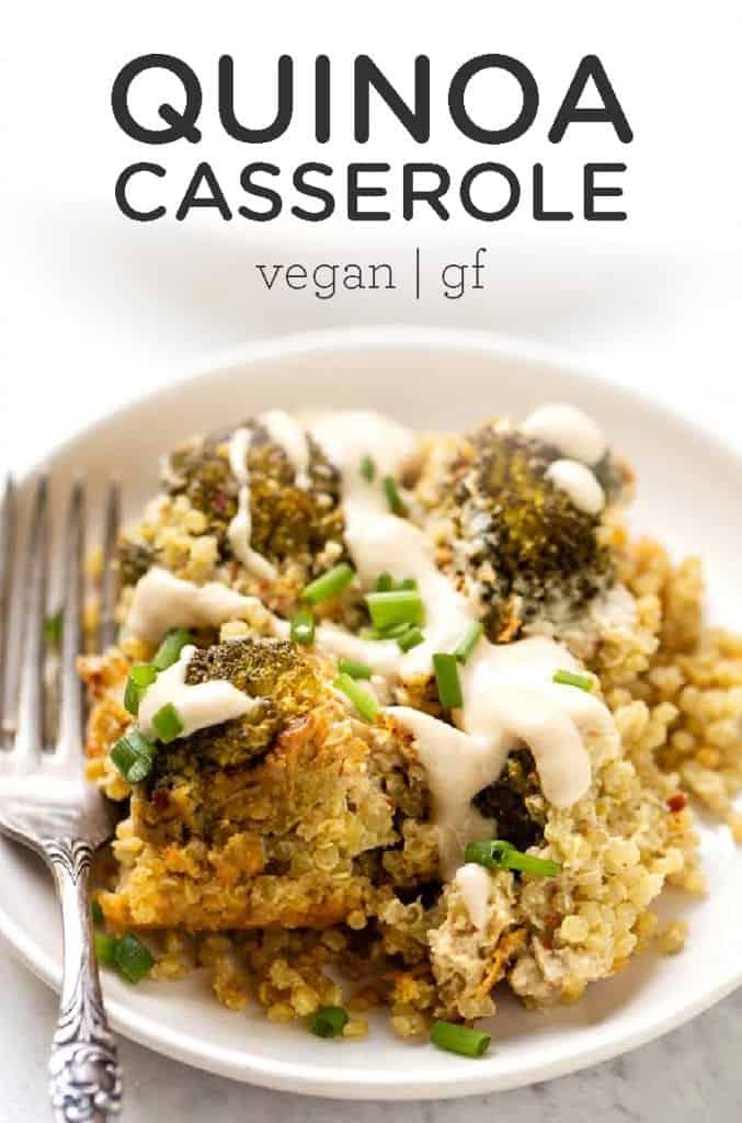 Vegan quinoa casserole