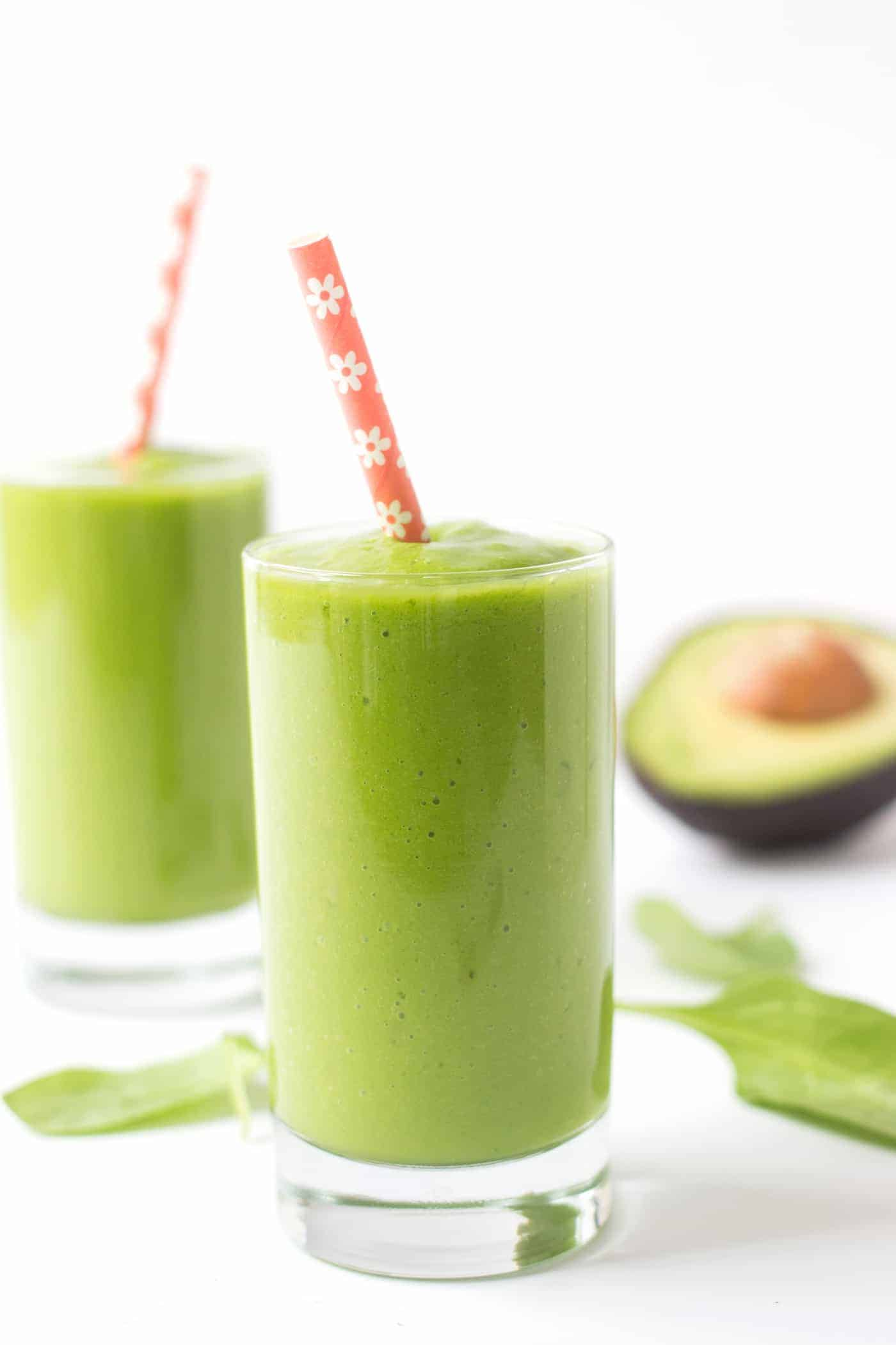 Alyssa's Favorite Green Smoothie with greens, avocado and SO much goodness!