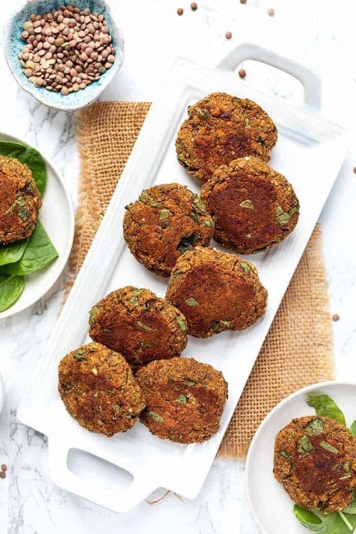Perfect Lentil Patties with Butternut Squash