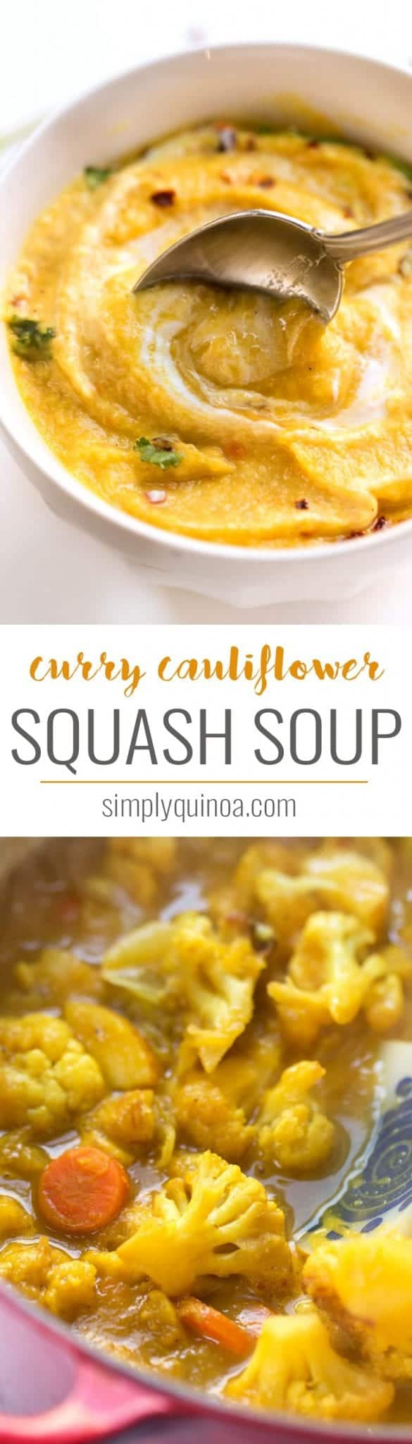 curried cauliflower squash soup