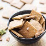 high protein quinoa crackers made with quinoa flour