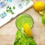 Healthy Green Juice with Lemon