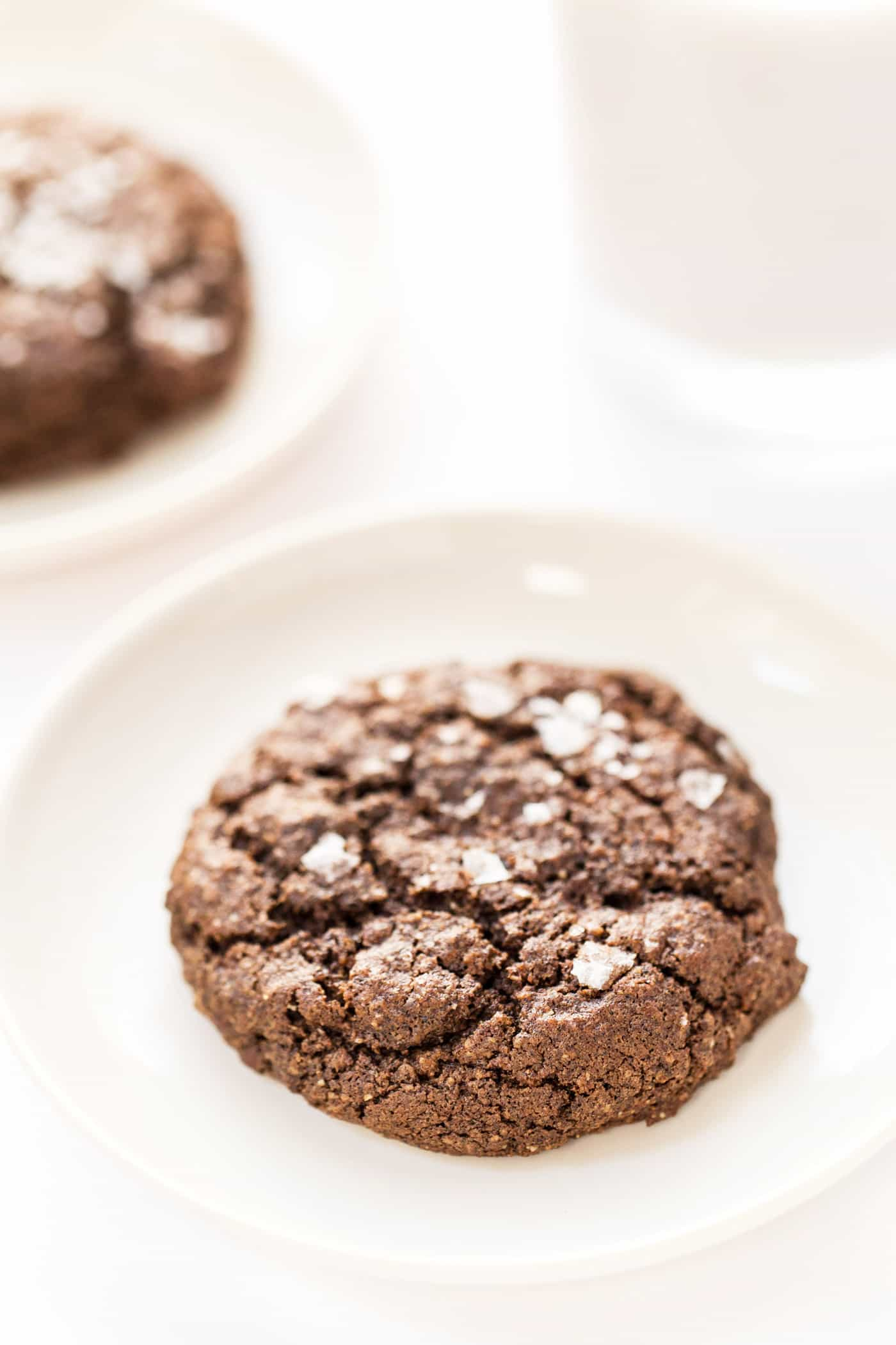 healthy double dark chocolate quinoa cookies made with buckwheat flour