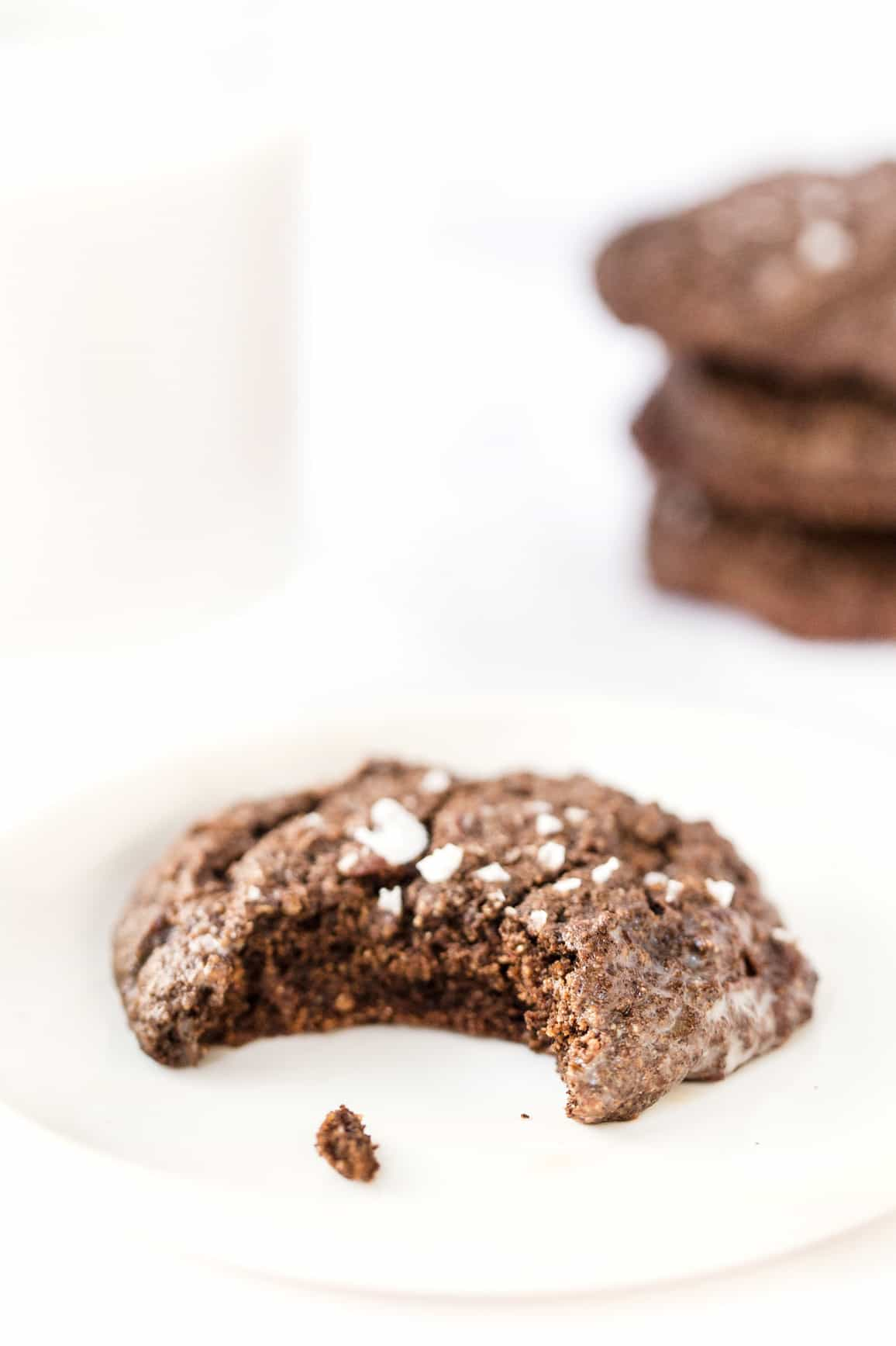 healthy double chocolate quinoa cookies with buckwheat flour