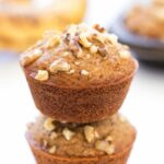These gluten-free Banana Bread Muffins are soft and fluffy, making the PERFECT morning treat!