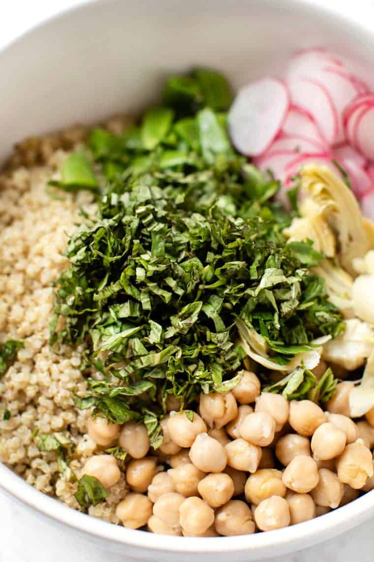 Fresh Herb Salad with Quinoa