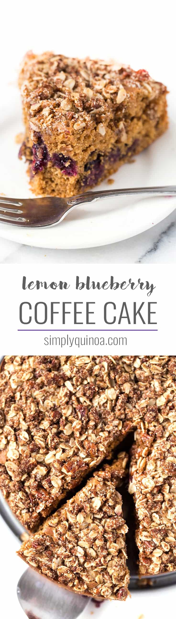 Try this Gluten-Free Lemon Blueberry Coffee Cake for breakfast! It's HEALTHY, easy to make and tastes AMAZING!