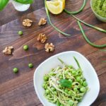 Zucchini Pasta with Garlic Scape Pesto