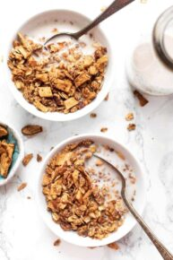Healthy Granola with Apples & Cinnamon