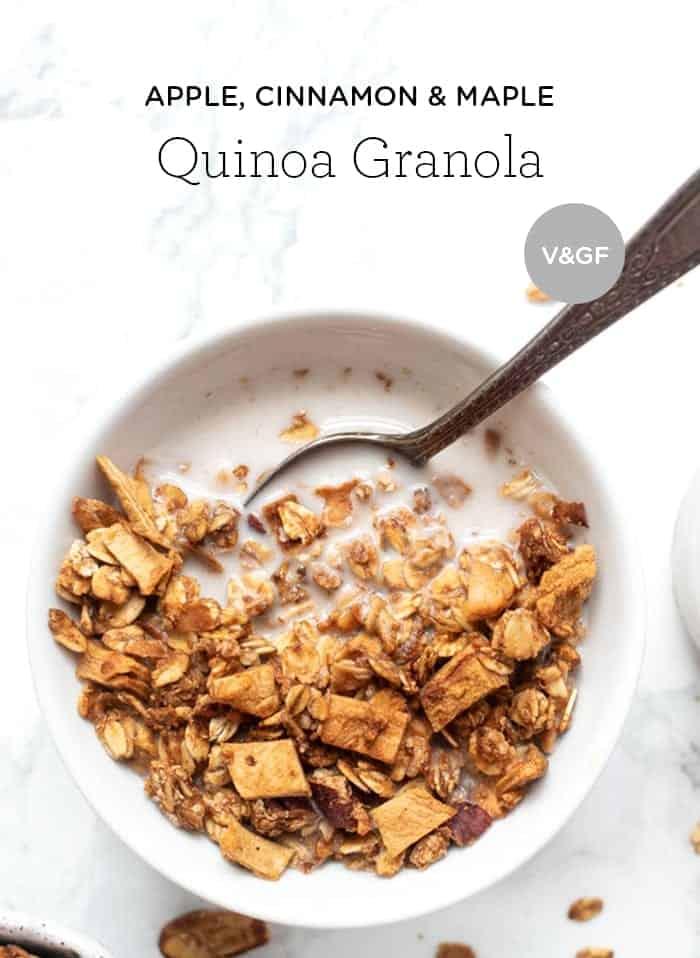 Apple Cinnamon Quinoa Granola Recipe