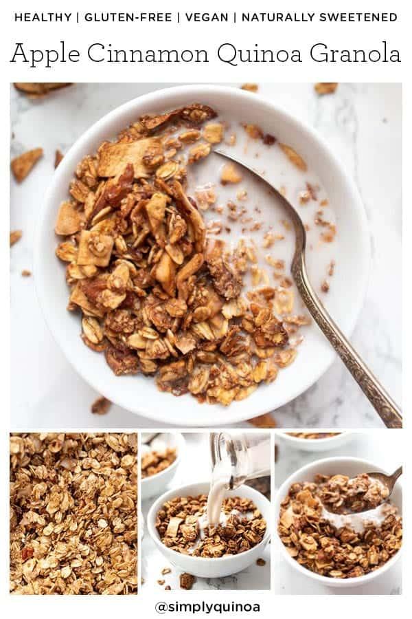 Healthy Cinnamon Granola with Quinoa Flakes