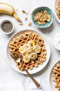 Banana Quinoa Waffles