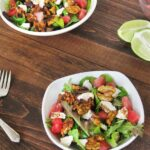 Watermelon & Goat Cheese Salad with Spiced Nuts
