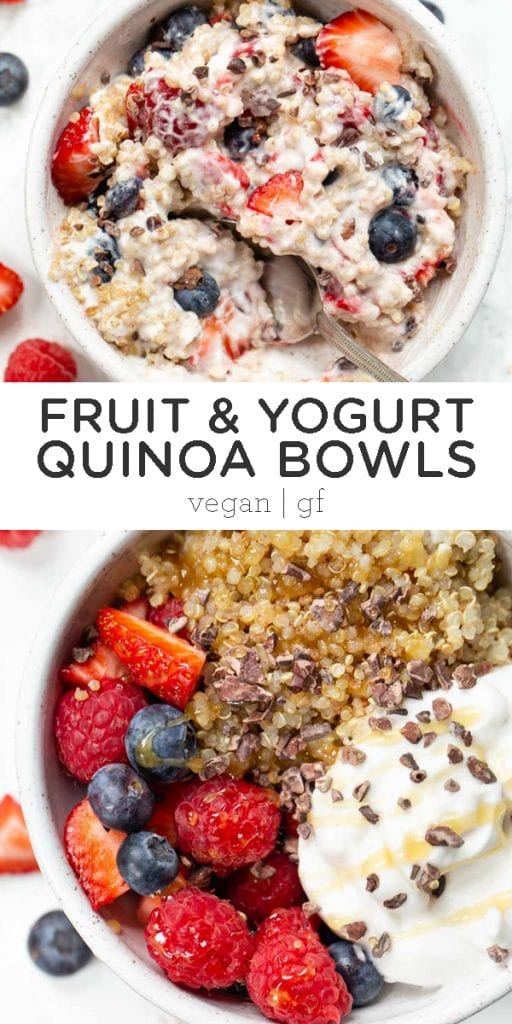 fruit & yogurt quinoa bowls