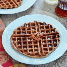 Sweet Potato + Pineapple Quinoa Waffles (gluten-free)