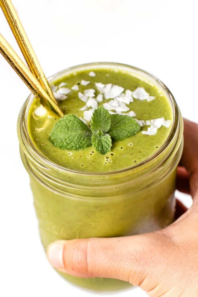 Minty Melon Green Smoothie Recipe