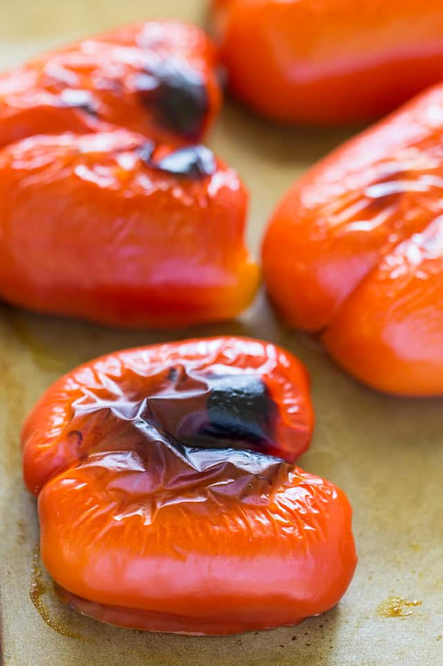 How to make ROASTED RED PEPPER soup with tomatoes, quinoa and homemade roasted red peppers!