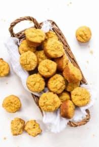Mini Pumpkin Muffins made from Cornmeal