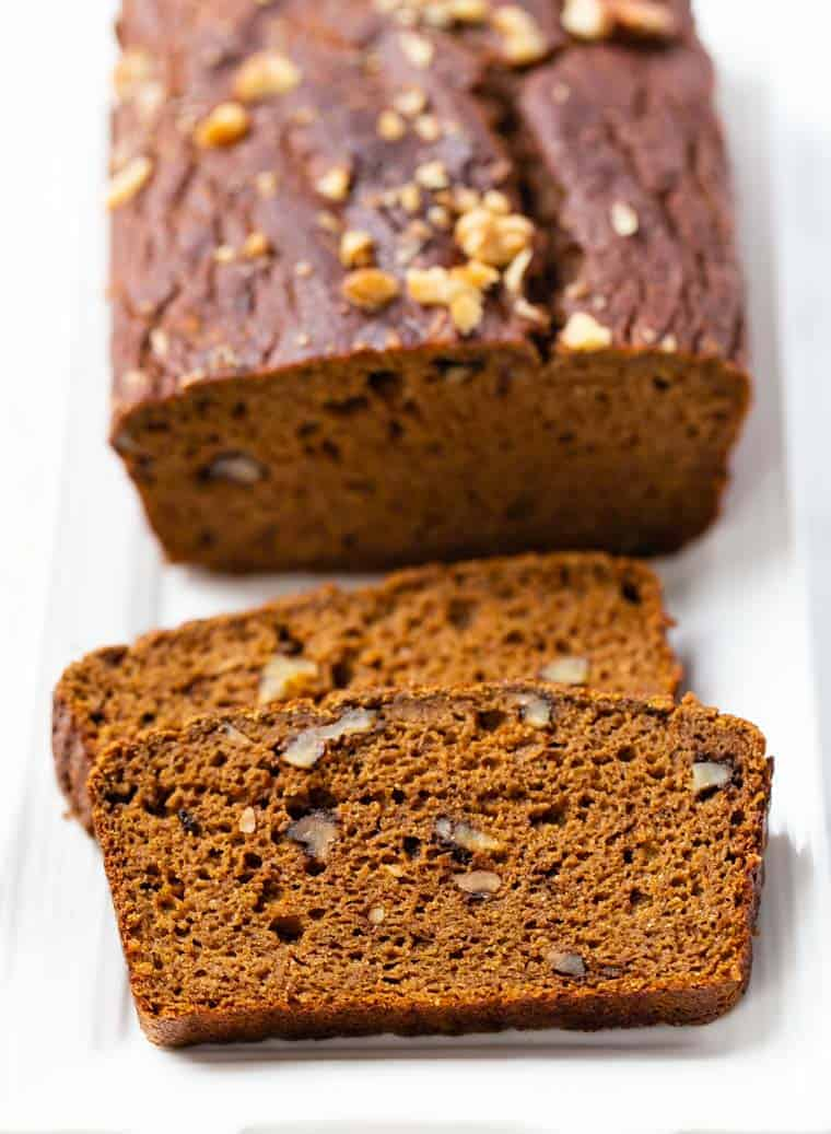 Super Healthy Gluten-Free Pumpkin Bread