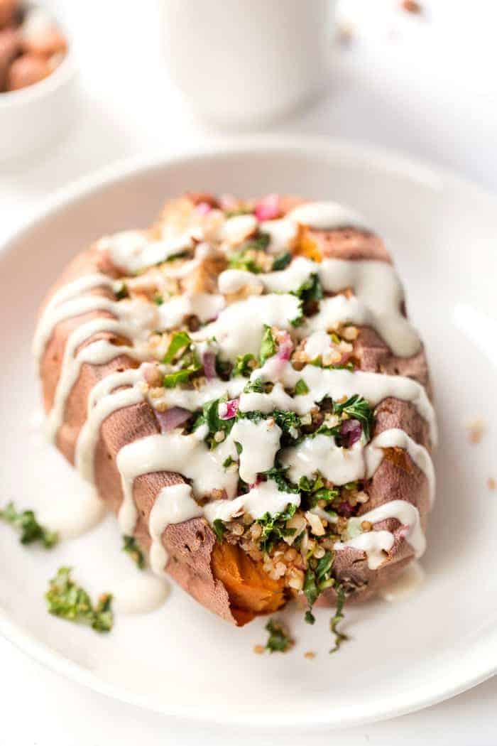 how to make quinoa stuffed sweet potatoes