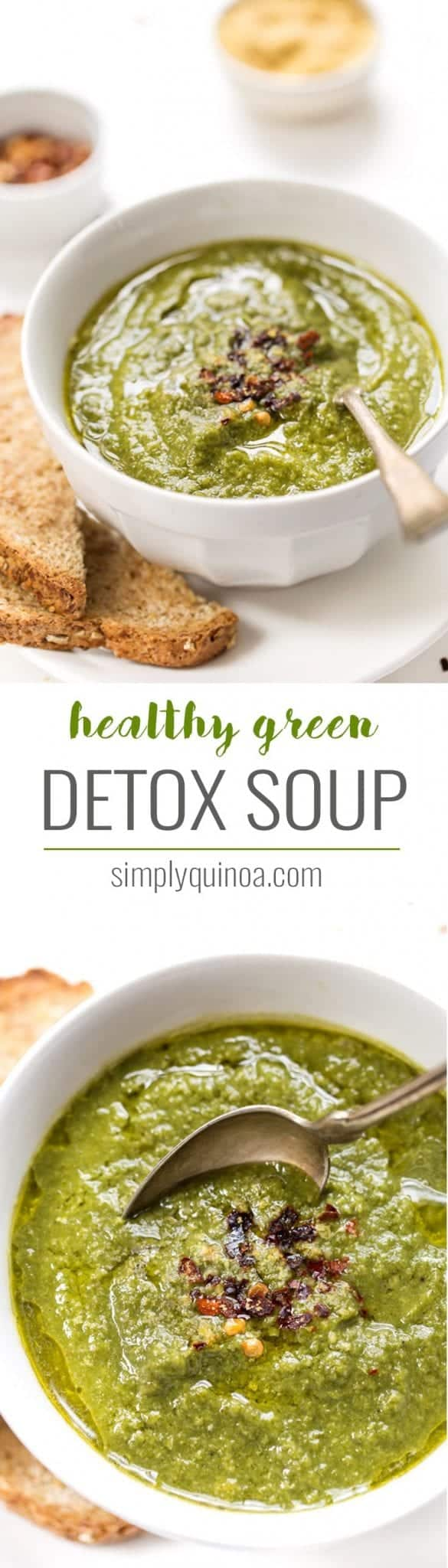 a healthy green detox soup