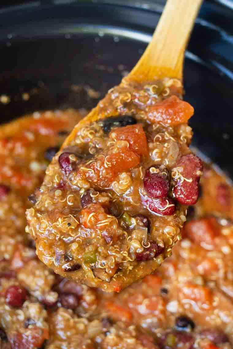 Vegetarian Chili Slow Cooker Easy