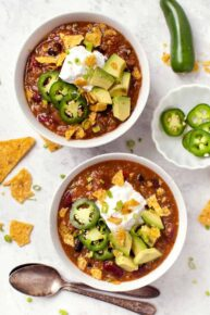 Slow Cooker Vegetarian Chili Easy