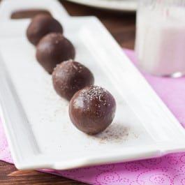 Dark Chocolate Quinoa Truffles