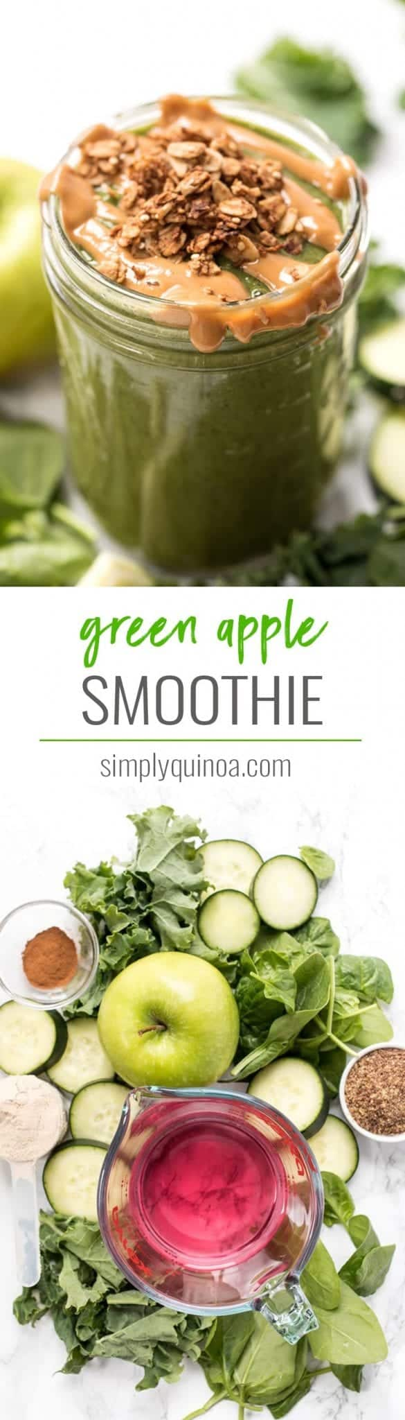 green apple smoothie recipe with protein and fiber