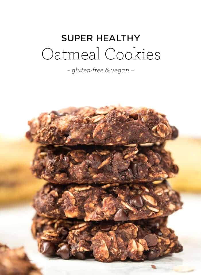 One Bowl Vegan Chocolate Cookies with Oats and Quinoa Flakes