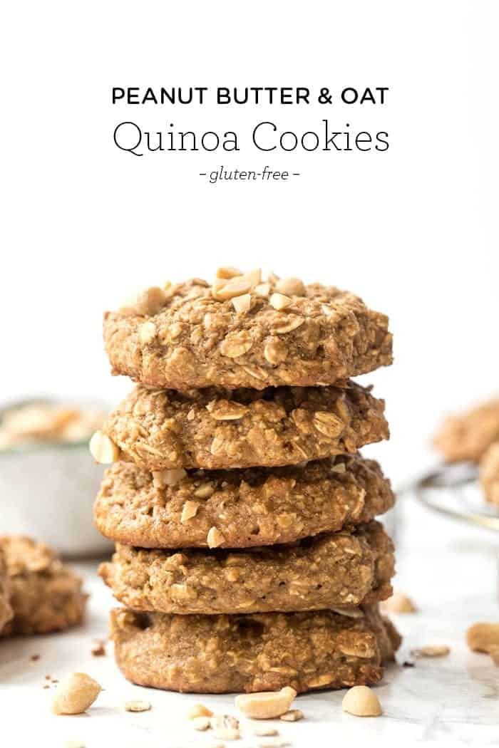 Peanut Butter Quinoa Cookies with Oat Flour